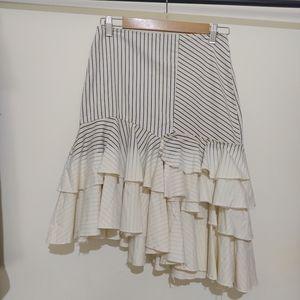 Zara size S denim stripe frill skirt